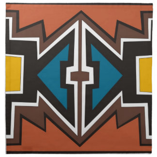 Colorful abstract African art Printed Napkin