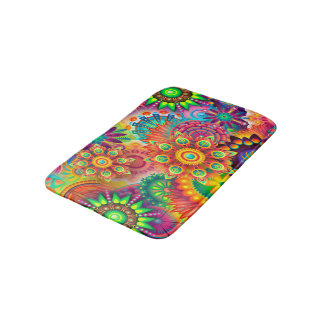 Colorful Abstract Art Background Bath Mat
