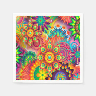 Colorful Abstract Art Background Disposable Napkins