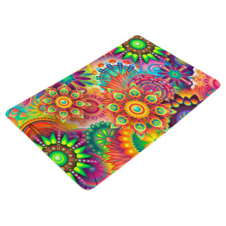 Colorful Abstract Art Background Floor Mat