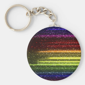 Colorful Abstract Art Basic Round Button Key Ring