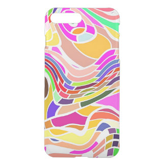 Colorful Abstract Art, Colorful Shapes White Lines iPhone 8 Plus/7 Plus Case