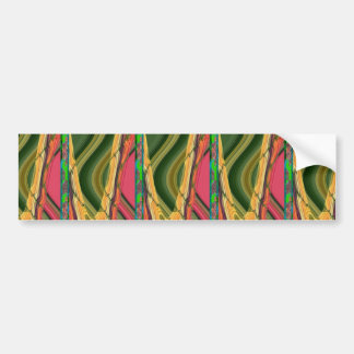Colorful Abstract art from farm carrot nature love Car Bumper Sticker