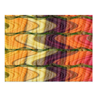 Colorful Abstract art from farm carrot nature love Post Cards