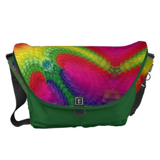 Colorful abstract art large bag courier bags