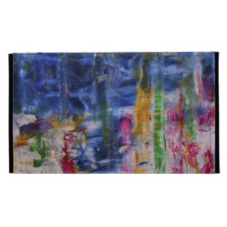 Colorful Abstract Art-Mother And Child iPad Folio Cases