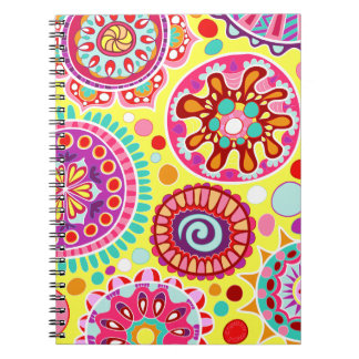 Colorful Abstract Art Notebook - Psychedelic!