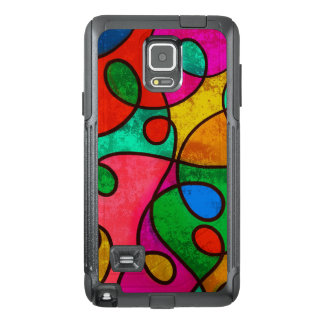 Colorful abstract art OtterBox samsung note 4 case