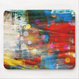 Colorful Abstract Art Paint Splatters Design Mouse Pad