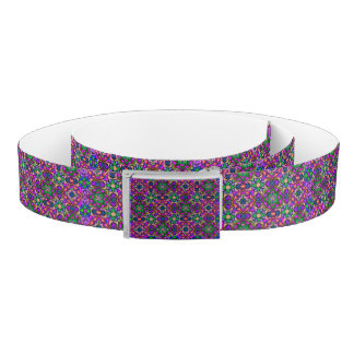 Colorful Abstract Art Reversible Canvas Belt