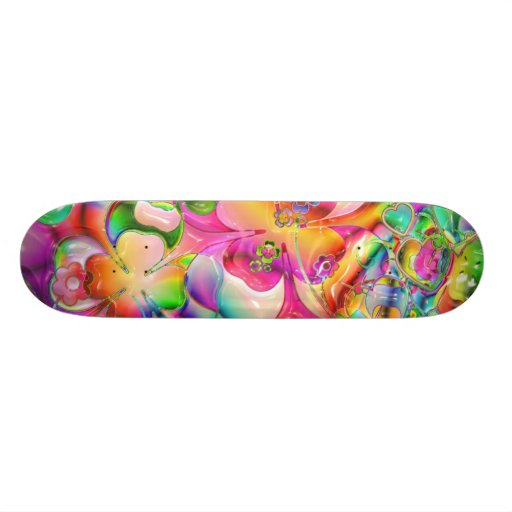 Colorful Abstract Art Skate Boards