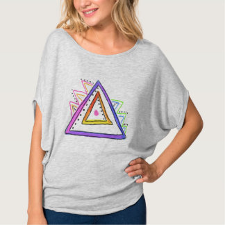 Colorful Abstract Art Triangle T-Shirt