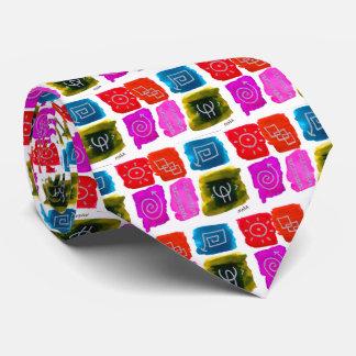 Colorful Abstract Artistic Graffiti Primitive Boho Tie