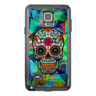 Colorful Abstract Background Floral Sugar Skull