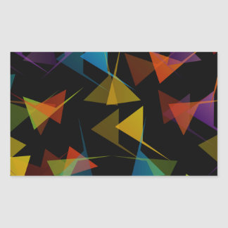 Colorful abstract background rectangular sticker