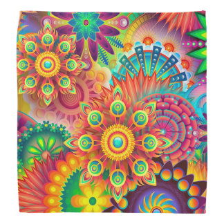 Colorful Abstract Bandanna Modern Art