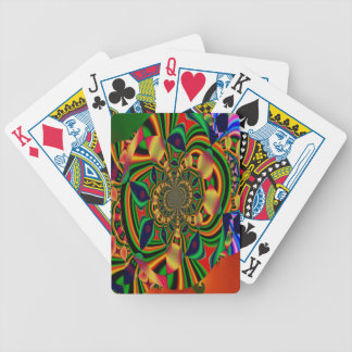 Colorful Abstract Bicycle Poker Playing Cards