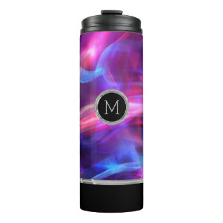 Colorful Abstract Bokeh Light Pattern Thermal Tumbler