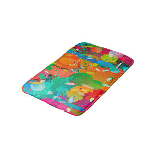 Colorful Abstract Bright Background Bath Mat