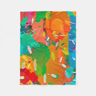 Colorful Abstract Bright Background Fleece Blanket