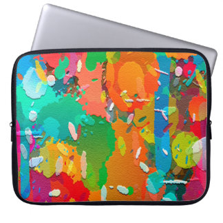 Colorful Abstract Bright Background Laptop Sleeve