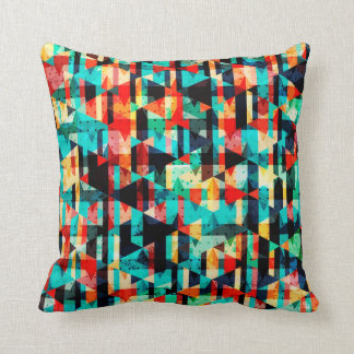 Colorful abstract bright element design throw cushions
