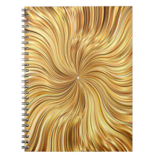 Colorful Abstract Brown Reflective Notebook