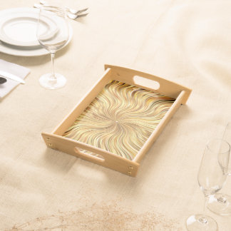 Colorful Abstract Brown Reflective Serving Tray