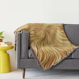 Colorful Abstract Brown Reflective Throw Blanket