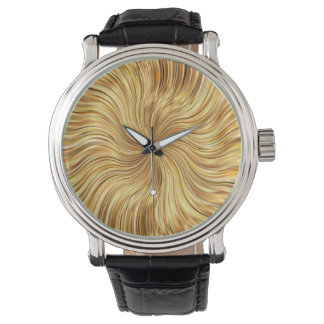 Colorful Abstract Brown Reflective Watch