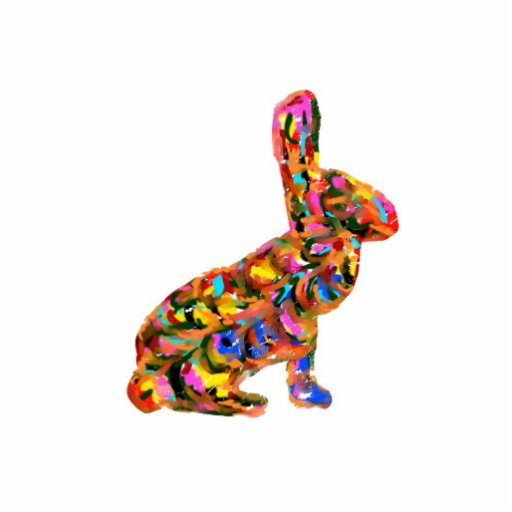 Colorful Abstract Bunny Ornament/Magnet/Keychain Acrylic Cut Outs