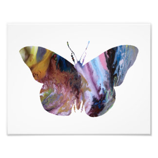 Colorful abstract Butterfly silhouette Photo Print
