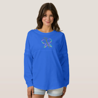 Colorful Abstract Butterfly Wearable Art Top