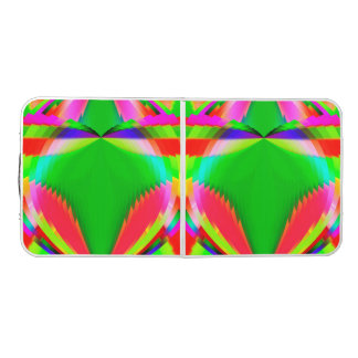 Colorful Abstract Butterfly with Flower Pong Table
