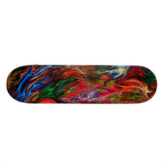 Colorful abstract by rafi talby skateboard decks