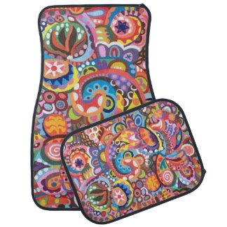Colorful Abstract Car Mats - Full Set of 4 Mats