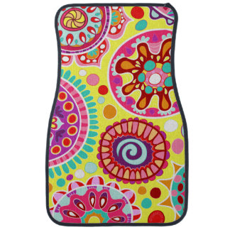 Colorful Abstract Car Mats - Set of 2 Front Mats Floor Mat