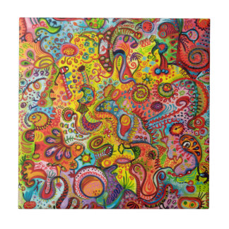 Colorful Abstract Ceramic Tile