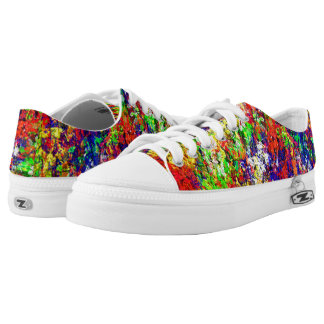 Colorful Abstract Chaotic unique Pattern Low Tops