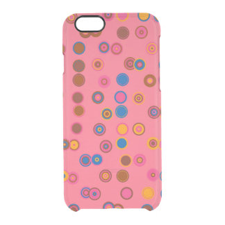 Colorful Abstract Circles Clear iPhone 6/6S Case