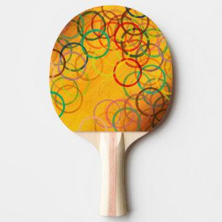 Colorful Abstract Circles Ping Pong Paddle