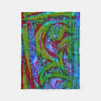 Colorful Abstract Contrast Fleece Blanket