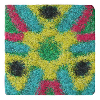 Colorful abstract cool kaleidoscope trivet