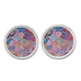 Colorful Abstract Cuff Link Cufflinks