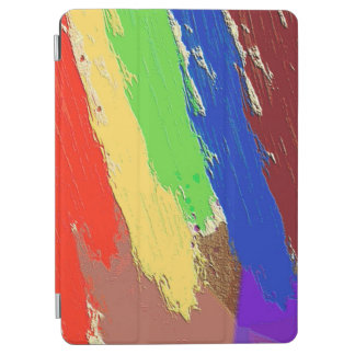 Colorful Abstract Dab Lines iPad Air Cover