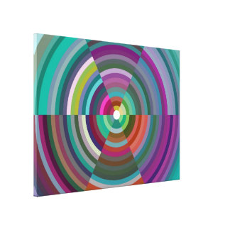 Colorful Abstract Design Stretched Canvas Print