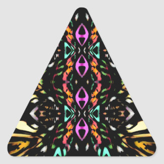 Colorful Abstract Design. Digital Pattern Art Triangle Sticker