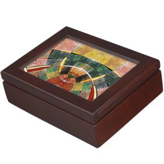 colorful abstract design keepsake box