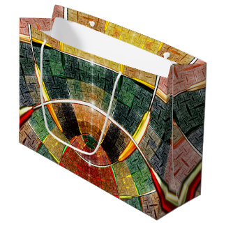 colorful abstract design large gift bag
