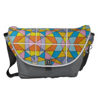 Colorful Abstract Design Large Messenger Bag